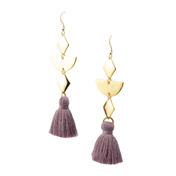 Diamond Tassel Earrings | Geometric Tassel Collection | Handmade Fashion Jewelry | Wholesale | Marli and Lenny