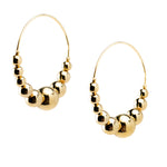 Small Beaded Hoop Earrings | Gold Bead Collection | Handmade Fashion Jewelry | Wholesale | Marli and Lenny