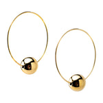 Single Bead Hoop Earrings | Gold Bead Collection | Handmade Fashion Jewelry | Wholesale | Marli and Lenny