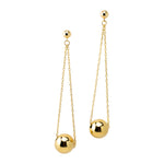 Single Bead Drop Earrings | Gold Bead Collection | Handmade Fashion Jewelry | Wholesale | Marli and Lenny