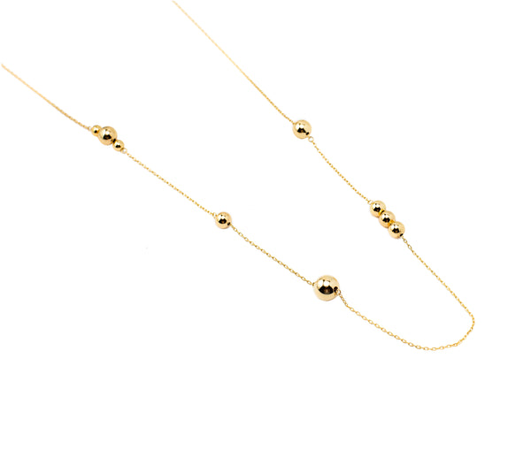 Long Multibead Chain | Gold Bead Collection | Handmade Fashion Jewelry | Wholesale | Marli and Lenny