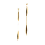 Top and Bottom Drop Earrings | Gold Drop Collection | Handmade Fashion Jewelry | Wholesale | Marli and Lenny