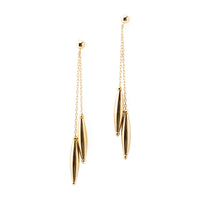 Double Drop Earrings | Gold Drop Collection | Handmade Fashion Jewelry | Wholesale | Marli and Lenny