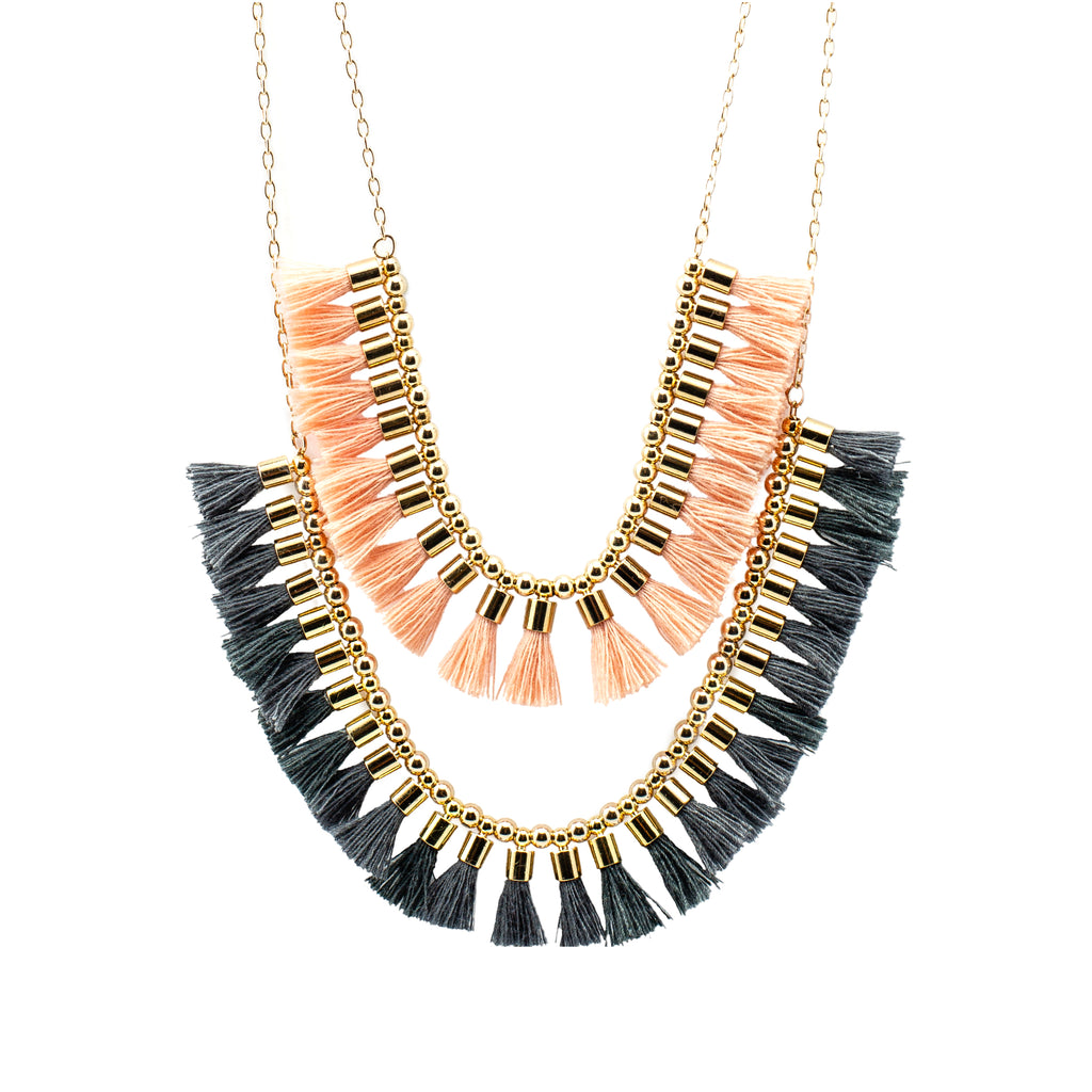 Short Double  Tassel  Necklace