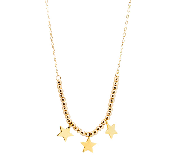 3 Mini Star Chain | Stars Collection | Handmade Fashion Jewelry | Wholesale | Marli and Lenny