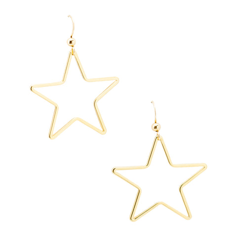 Single Star Earrings