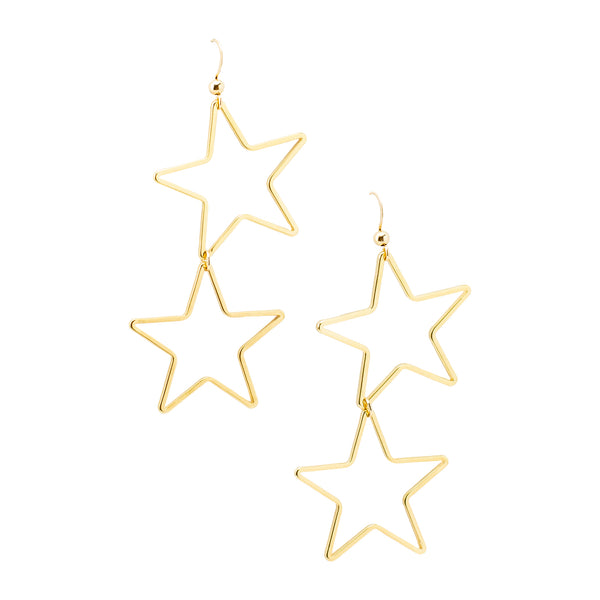 Double Star Earrings | Stars Collection | Handmade Fashion Jewelry | Wholesale | Marli and Lenny