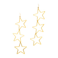 Triple Star Earrings | Stars Collection | Handmade Fashion Jewelry | Wholesale | Marli and Lenny