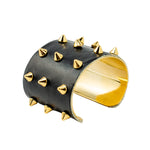 Black Leather Studded Cuff | Studs Collection | Handmade Fashion Jewelry | Wholesale | Marli and Lenny