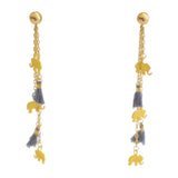 Multi Charm Earrings with Tassels | Multi Charm Collection | Handmade Fashion Jewelry | Wholesale | Marli and Lenny