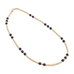 Beaded gold and stone necklace (More Colors Available)