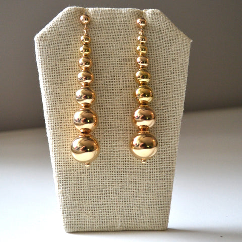 Multi Bead Drop Earring