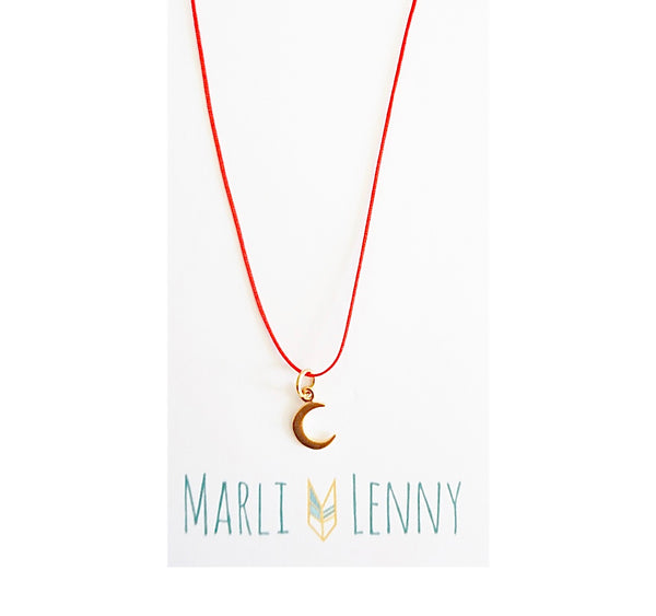 Moon String Charm Necklace