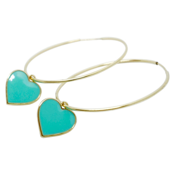 Heart Hoops (more colors available)