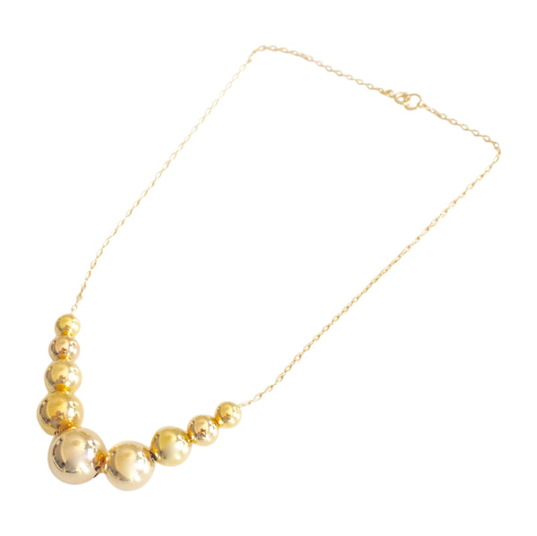 Short Multibead Chain | Gold Bead Collection | Handmade Fashion Jewelry | Wholesale | Marli and Lenny