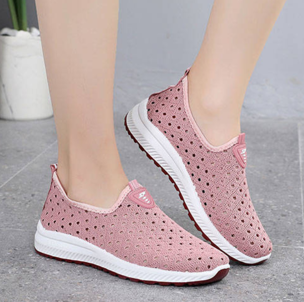 Breathable Hollow Mesh Casual Sneakers