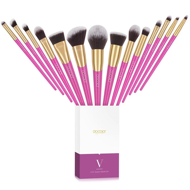 Softer Touch 14 pcs Professional Makeup Brushes Set