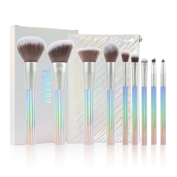 Softer Touch 9 pcs Professional Makeup Brushes Set with Bag