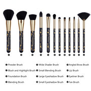 Softer Touch 12 pcs Professional Makeup Brushes Contour Set