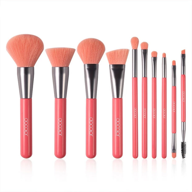 Softer Touch 10 pcs Professional Makeup Brushes Neon Set