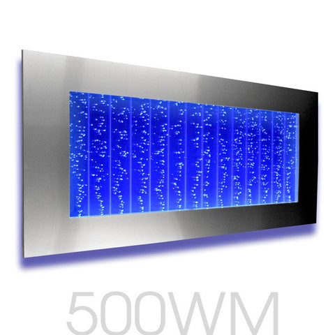 Smart phone LED control is optional on the 500WM Bubble Wall
