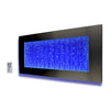 Horizontal Wall Mount LED Bubble Wall Indoor Fountain Water Feature 45