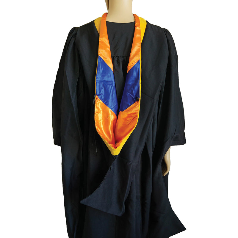 Cappe Diem Master Hood GOLDEN YELLOW: Master of Science M.S. etc. in Physics Math