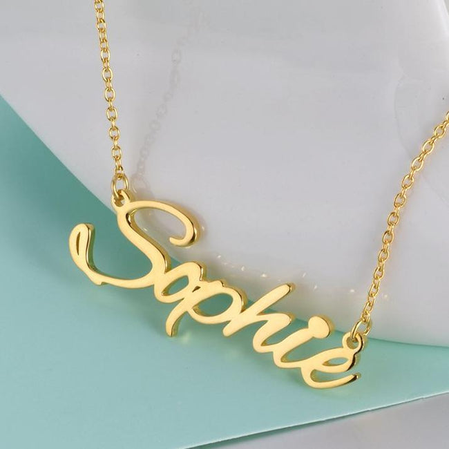 "Sophie - Copper/925 Sterling Silver Personalized Name Necklace Adjustable 16""-20"""