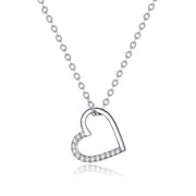925 Sterling Silver The Shape Of Love Heart Necklace Mean Love Forever For Women Making Fashion Jewelry