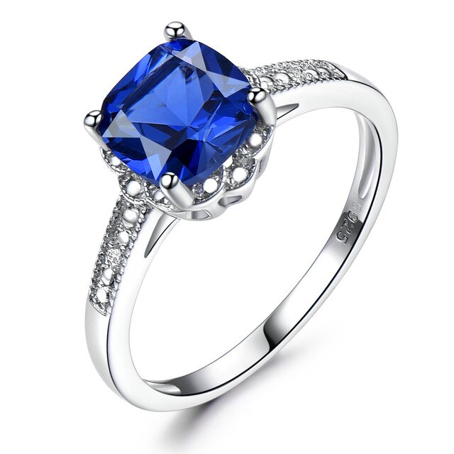 Tanzanite Gemstone Rings for Women 925 Sterling Silver Ring Birthstone Engagement Wedding Romantic Valentines Jewelry New