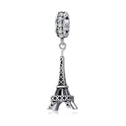 925 Sterling Silver Retro Eiffel Tower Pendant Charm for Bracelet or Necklace 925 Sterling Silver Jewelry BSC154