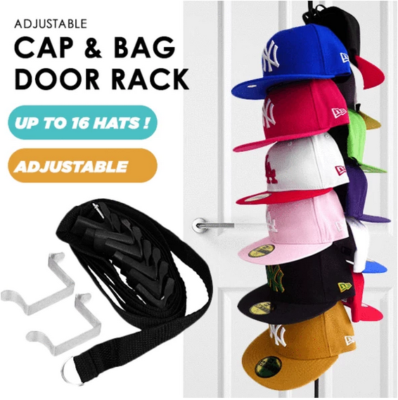 Adjustable Cap & Bag Door Rack