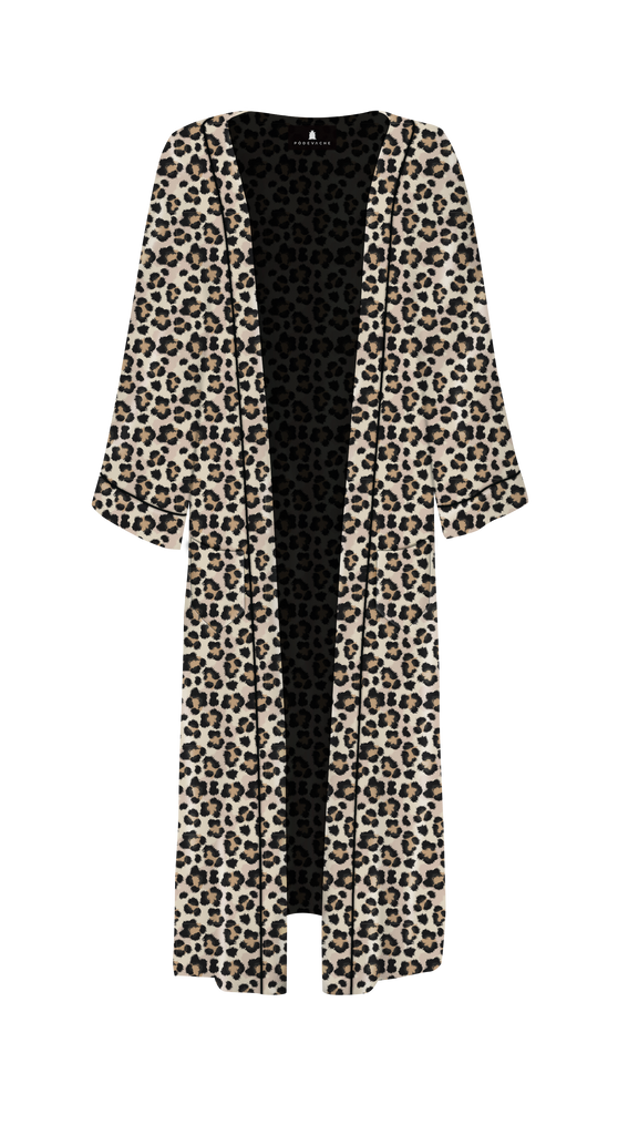 KIMONO LONG ANIMAL LOVE LEOPARD