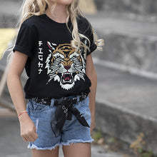 Charger l'image dans la galerie, T-SHIRT FILLETTE ANIMAL LOVE LEOPARD