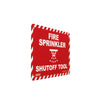 Fire Sprinkler Shutoff Tool Sign Angled