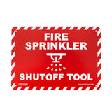 Fire Sprinkler Shutoff Tool Sign