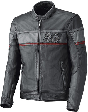 Held Stone Leather Jacket - Anthracite/Red - Urban Nomads Motorcycle Clothing