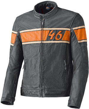 Held Stone Leather Jacket - Grey/Orange - Urban Nomads Motorcycle Clothing