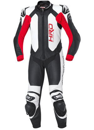 Held Slade 1-Piece Mens Leather Suit - Black/White/Red - Urban Nomads Motorcycle Clothing