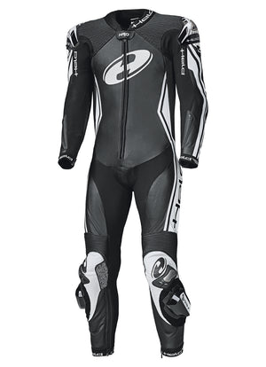 Held Full-Speed 1-Piece Mens Leather Suit - Black/White - Urban Nomads Motorcycle Clothing