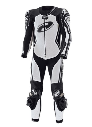 Held Full-Speed 1-Piece Mens Leather Suit - White/Black - Urban Nomads Motorcycle Clothing