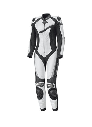 Held Ayana 2 Ladies Leather 1-Piece Suit - White/Black - Urban Nomads Motorcycle Clothing