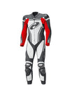Held Rush 1-Piece Mens Leather Suit - Black/White/Red - Urban Nomads Motorcycle Clothing
