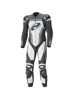 Held Rush 1-Piece Mens Leather Suit - Black/White - Urban Nomads Motorcycle Clothing