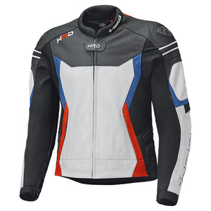 Held Street 3.0 Sports Leather Jacket - White/Red/Blue - Urban Nomads Motorcycle Clothing
