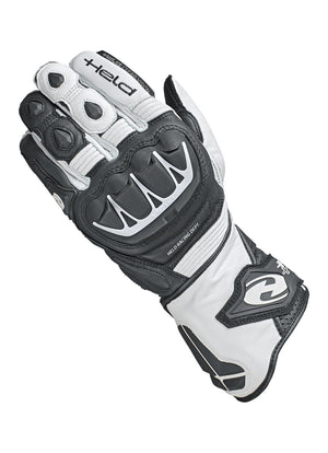 Held Evo-Thrux 2 Leather Ladies Sports Gloves - White/Black - Urban Nomads Motorcycle Clothing