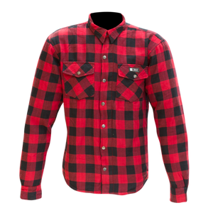 Merlin Axe Kevlar Riding Shirt - RED - Urban Nomads Motorcycle Clothing