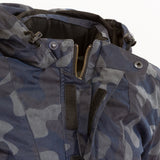 Merlin Belmot Waxed Cotton Parka Style Waterproof Jacket - Navy Camo - Urban Nomads Motorcycle Clothing