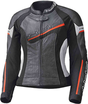 Held Debbie 2 Ladies Leather Jacket - Black/Red/White - Urban Nomads Motorcycle Clothing