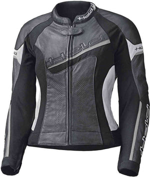 Held Debbie 2 Ladies Leather Jacket - Black/White - Urban Nomads Motorcycle Clothing